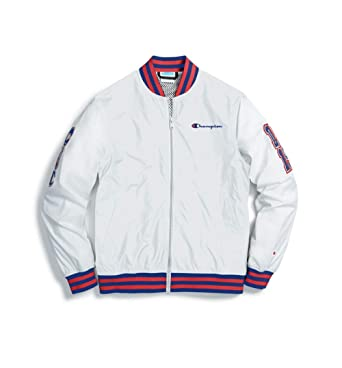 56470ed2 Image Unavailable. Image not available for. Color: Champion Life Multi-C  Logo Patches Satin Baseball Jacket