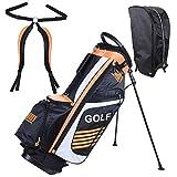 14-Way Golf Club Stand & Carry Bag Orange