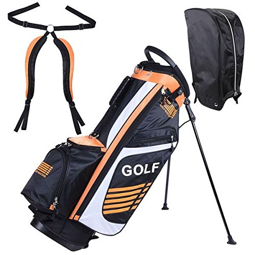 14-Way Golf Club Stand & Carry Bag Orange by Access Store
