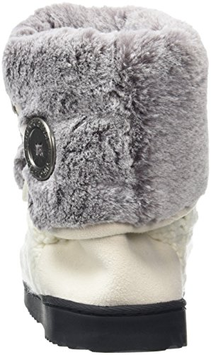 Dearfoams Women's Cable Knit Clog W/Plush Cuff Hi-Top Slippers Off-white (Muslin) KL8CgLiWNB
