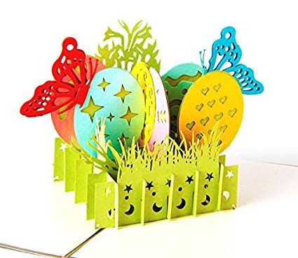 Amazon 2 pcs pop up handmade easter customized greeting words 2 pcs pop up handmade easter customized greeting words creative business 3d happy birthday paper card m4hsunfo