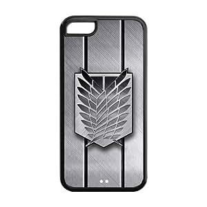 LeonardCustom Protective Hard Rubber Case Cover for iPhone 5C , Attack on Titan Scout Regiment Logo -LCI5CU122
