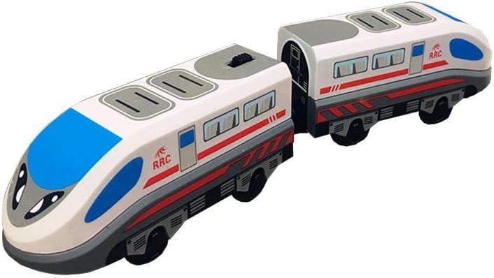 Xploit Juguete de Tren de ferrocarril Tren de Carga de la era de Vapor Juguete clásico de Locomotora para niños para Thomas BRIO Tren de Madera Tren eléctrico Coche de Juguete de Tren