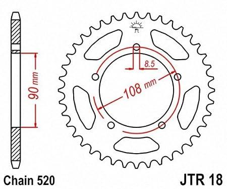 JT Sprockets JTR18.39 39T Steel Rear Sprocket