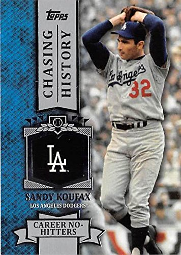 - Sandy Koufax baseball card (Los Angeles Dodgers Hall of Famer Jewish Sports Legends) 2013 Topps #CH50 Chasing History Insert Edition