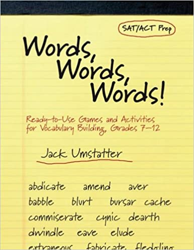 Amazon.com: Words, Words, Words: Ready-to-Use Games and Activities ...