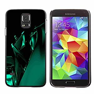 Shell-Star ( Green Abstract ) Fundas Cover Cubre Hard Case Cover para Samsung Galaxy S5 V SM-G900