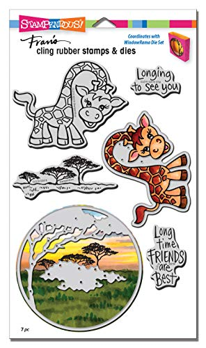 (Stampendous CLD18 Giraffe Cling Stamp/Die Set,)