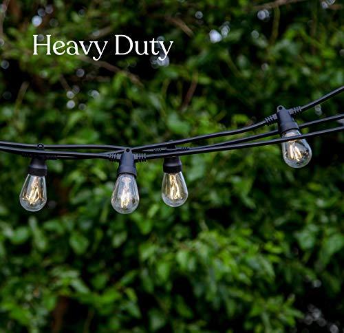 Solar power outdoor string lights