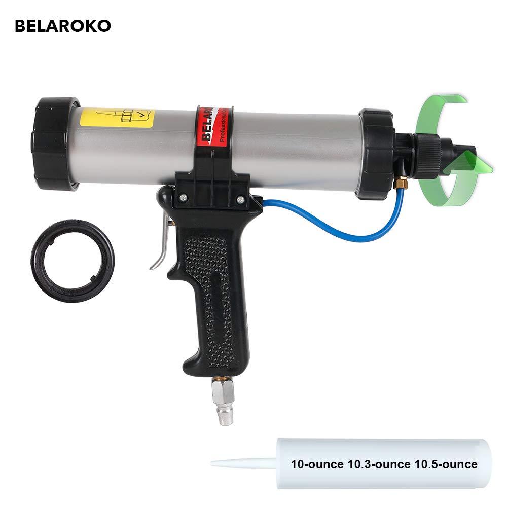 BELAROKO 3100A Air Caulking Gun 10 oz with Air Flow Regulator, for 10-Ounce 10.3oz 10.5 OZ Cartridge (10 oz)