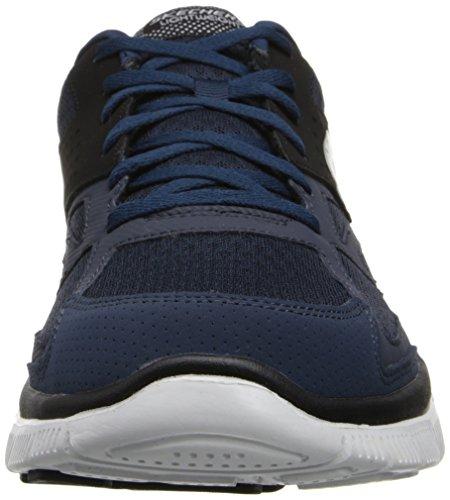 Skechers Flex Advantage Master Plan - Zapatillas, Hombre Azul (NVBK)
