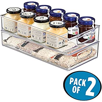 Amazon Com Mdesign Kitchen Storage Organizer Bin For