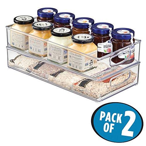 mDesign Kitchen Storage Organizer Refrigerator