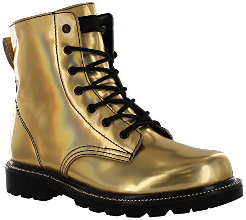 Gotta Flurt Luna Boot, Gold/Black, Size 9.5