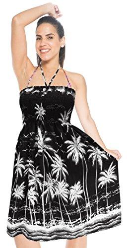 Bain Noir Cou Licol Robe LA Courte de Tube de Maillot Jupe de Maxi LEELA Couvrir m663 midi Top Bain Beachwear de Maillots wxwRqa
