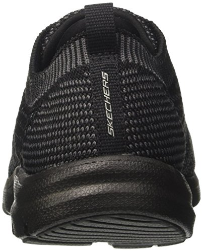 Para charcoal black Entrenadores Mujer Negro Skechers Galaxies R4qxEP