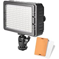 UTEBIT LED Light for Photography LED 204S Camera Video Hot Shoe Light with 2 Filters Portable Continuous Lighting for Canon Nikon DSLR and Tripod Light Stand