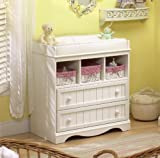 Convertible Changing Table Dresser South Shore 2-Drawer Changing Table with Open Storage, Espresso