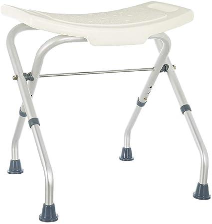 Rehab – Asiento de ducha plegable – Asiento de bañera, silla regulable en altura – Apoyo para ancianos