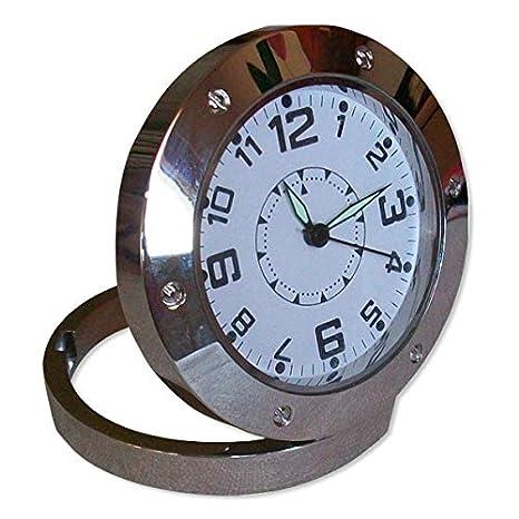 reloj espía cámara de detección de movimiento espía mini ronda: Amazon.es: Bricolaje y herramientas