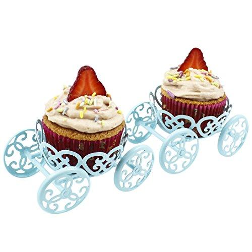 Zoie + Chloe Princess Carriage Cupcake Stand Holder Display - 2 Pack