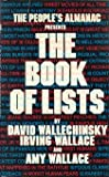 The People's Almanac Presents the Book of Lists, Wallechinsky, David and Wallace, Irving, 0688031838