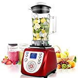 blender 1800 watt - Flagup High Speed Smoothie Blender Maker, 1800 Watt 30500RPM 68oz Professional Countertop Food Processor