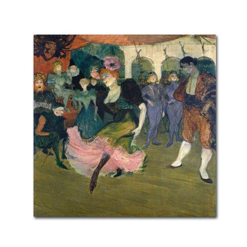 Marcelle Lender Dancing Artwork by Henri Tolouse-Lautrec, 14 by 14-Inch Canvas Wall Art ()