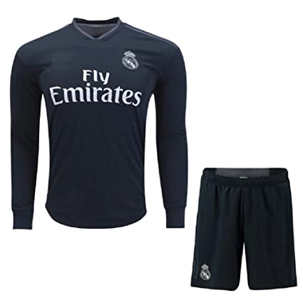 the best attitude 7b9a4 ca101 Buy AALLOOKART Real Madrid Away Long Sleeves Jersey with ...