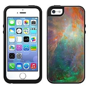 Skin Decal for OtterBox Symmetry Apple iPhone 5 Case - Nebula Green Orange