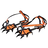 LuckyStone Strape Type 12-Teeth Ice Snow Boot Shoe Covers Spike Crampons Climbing Walking Winter