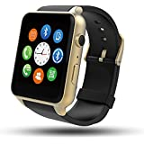 Smart Watch, MindKoo GT88 Reloj Inteligente Bluetooth Impermeable Deportivo de Pulsera T¨¢ctil con Monitor de Frecuencia Card¨ªaca/Sue?o Pod¨®mero Apoya Tarjeta SIM Carga Magn¨¦tica for Android/Apple iOS