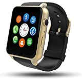 Smart Watch, Mindkoo GT88 Waterproof IP57 Bluetooth Connectivity Sports Activity with Heart Rate Monitor Magnetic Charging Health Exercise Fitness Tracker for Android/Apple iOS (Golden)