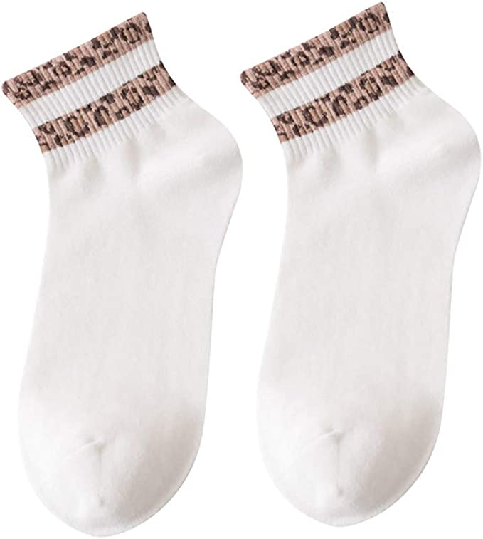Pingtr Calcetines de moda Calcetines de algodón leopardo ...
