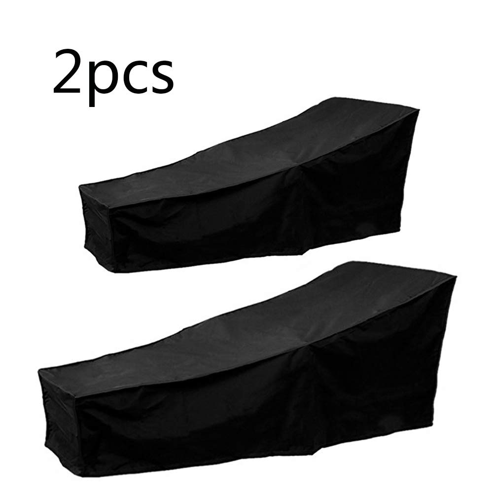 """Scorpiuse 2 Pack Outdoor Lounge Chair Cover Durable Patio Chaise Lounge Cover Protector Water Resistant And Lightweight 82""""Lx30""""Wx31""""H"""