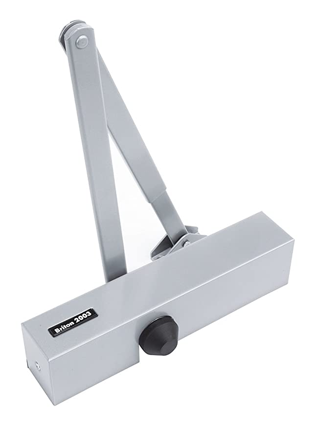 Silver by Briton Briton 2003.SES Size 3 CE Door Closer Fixed for Fire Doors
