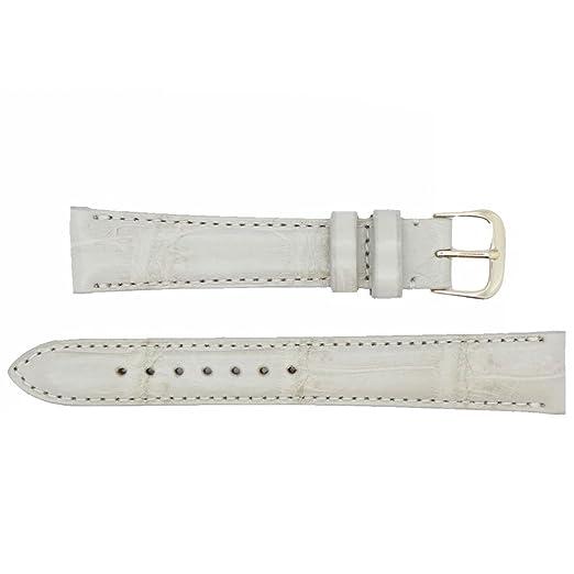 19 mm de hueso auténtica Alligator de repuesto correa de reloj banda fabricado en Estados Unidos Ws231: Amazon.es: Relojes