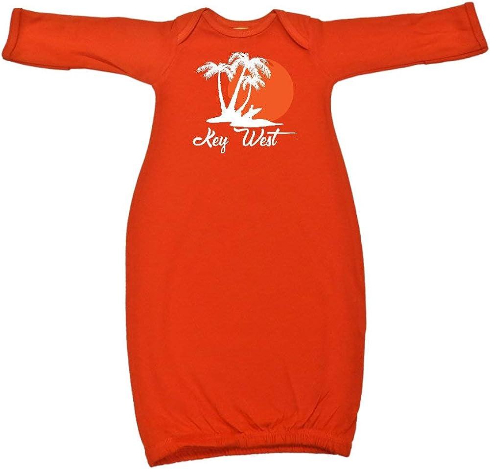 Key West Beach Sunset Surfer Baby Cotton Sleeper Gown
