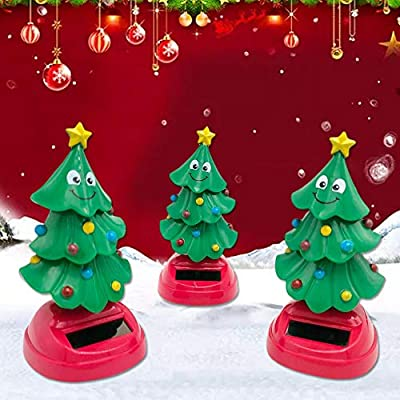 Supicity Solar Swinging Christmas Tree Bobblehead, Dancing Christmas Tree Toy, for Car and Home Decoration, for Kids Christmas Toy Gift vividly: Home & Kitchen