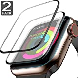 Apple Watch Screen Protector (44mm for Series 4) Full Screen 99% Clear Max Coverage Anti-Bubble iWatch Screen Protector 44mm- 2 Pack