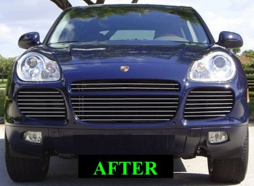 Amazon.com: 312 Motoring fits PORSCHE CAYENNE 2003-2006 CHROME GRILLE GRILL KIT 2004 2005 03 04 05 06 S TURBO: Automotive