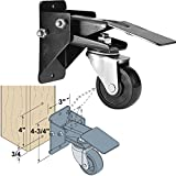 Woodtek 163703, 3-pack Of 4 Each, Hardware, Casters And Glides, Furniture & Cabinet, Workbench Stepdown Caster Set