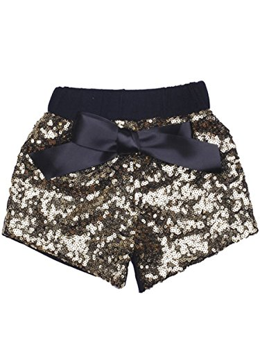 ILTEX Baby Girls Short Sequin Pants Bottoms with Bow Toddler
