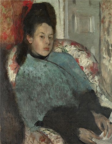 The Polyster Canvas Of Oil Painting 'Hilaire Germain Edgar Degas Portrait Of Elena Carafa ' ,size: 24 X 31 Inch / 61 X 78 Cm ,this Cheap But High Quality Art Decorative Art Decorative Prints On Canvas Is Fit For Living Room Decoration And Home Artwork And Gifts