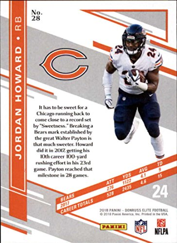 1e2d3a7ae25 Amazon.com: 2018 Donruss Elite #28 Jordan Howard Chicago Bears NFL Football  Card (made by Panini): Collectibles & Fine Art
