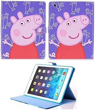Pour Apple Ipad 2 3 4 Peppa Pig Dessin Animé Smart Coque Avec Support