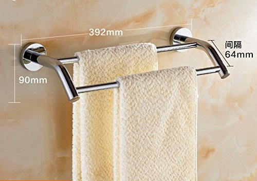 LVLIDAN Contemporary Towel bar Washroom rails Copper Double layer wall mounted 40cm by LVLIDAN Towel Rail