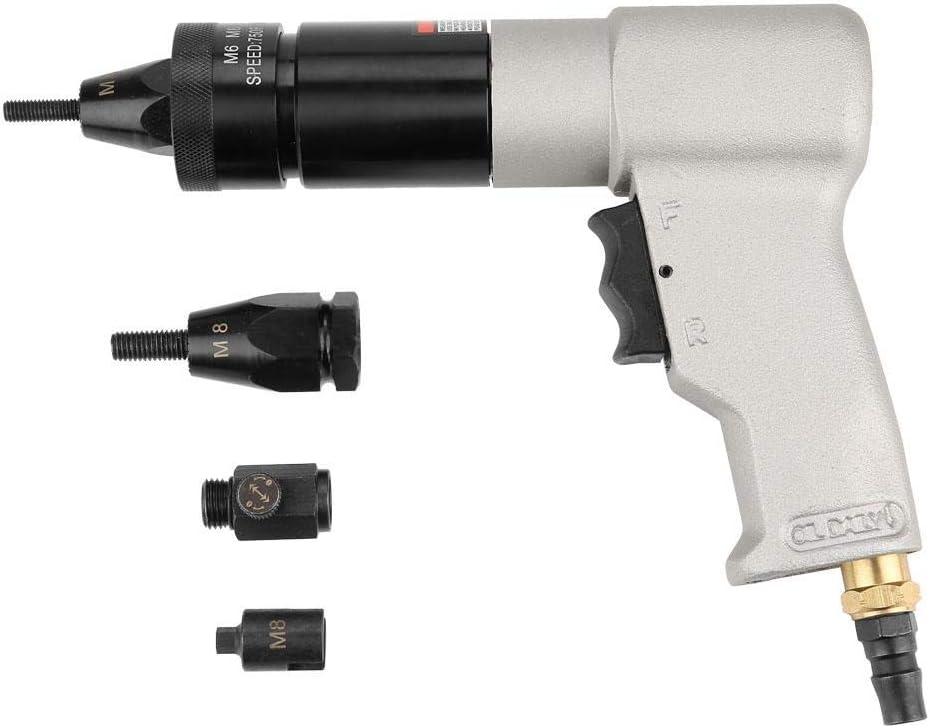 Pistola de remachadora de aire Tuerca de tracción automática Pistola de remachado neumática Herramienta de pistola(M6/M8,KP-7322)