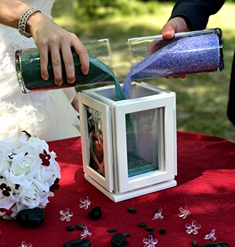 Sand Ceremony Rotating Photo Frame Set Handmade Makers