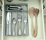 Mesh Small Cutlery Tray with Foam Feet - Kichen Organization / Silverware Storage by Storage Techngologies
